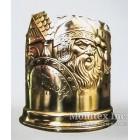 Серебряный подстаканник с изображением богатыря