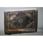 Серебряный портсигар, украшенный гравировкой