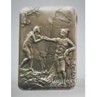 Серебряный портсигар с изображением на сюжет из античной мифологии