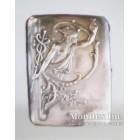 Серебряный портсигар, украшенный изображением бога Меркурия