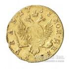 1 рубль 1758 года золото