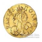 Полтина 1756 года золото