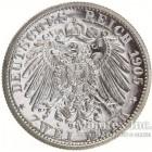 Серебряная монета 2 Марки 1905 год. Мекленбург-Штрелиц