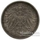 Серебряная монета 2 Марки 1902 год. Пруссия