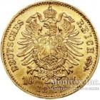 Золотая монета 10 Марок 1872 год. Бавария