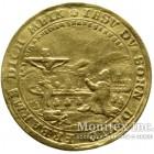 Золотая монета 1 Дукат 1745 год. Саксен-Кобург-Заальфельд