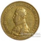 Золотая монета 1 Фридрихсдор 1818 год. Пруссия