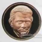 Памятная настольная медаль Леонид Данилович Кучма - Президент Украины 1995 год