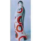 Статуэтка Девушка в красном платье