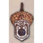 Нагрудный жетон в честь 125-летия Ленинградской пожарной команды. 1928 г.