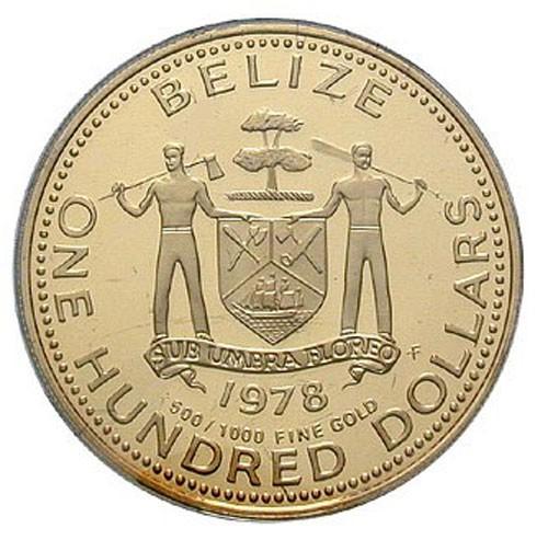 как выглядят на золотых монетах Белиза