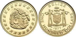 Золотая монета Белиза 1997